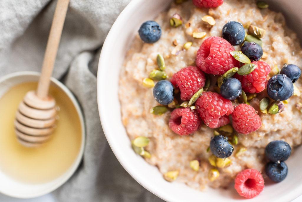 Bulgar Citrus Porridge with berries by Karlene Karst