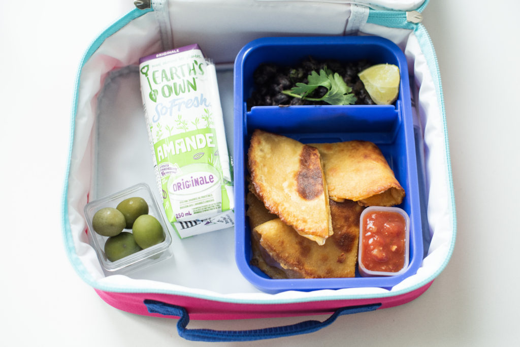Back To School Yumbox Lunch Karlene Karst black bean quesadilla