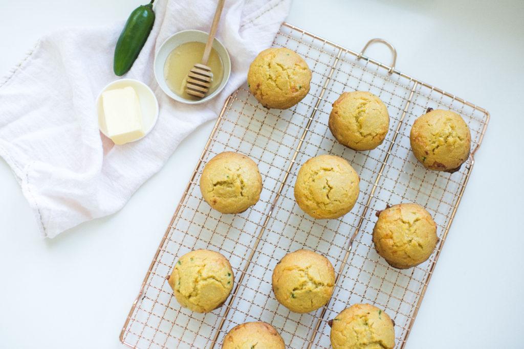 Fresh jalapeno cheddar corn muffins by Karlene Karst